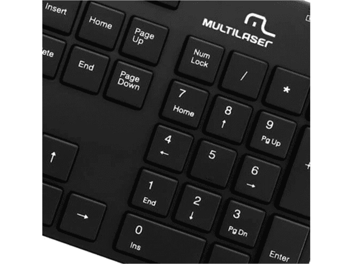 Teclado Slim Soft Touch USB TC142 Multilaser