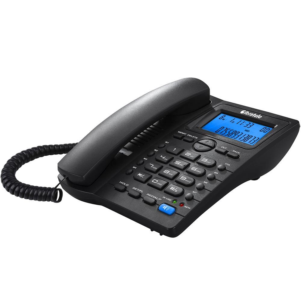 Telefone com Fio Manual com Identificação de Chamadas Ibratele