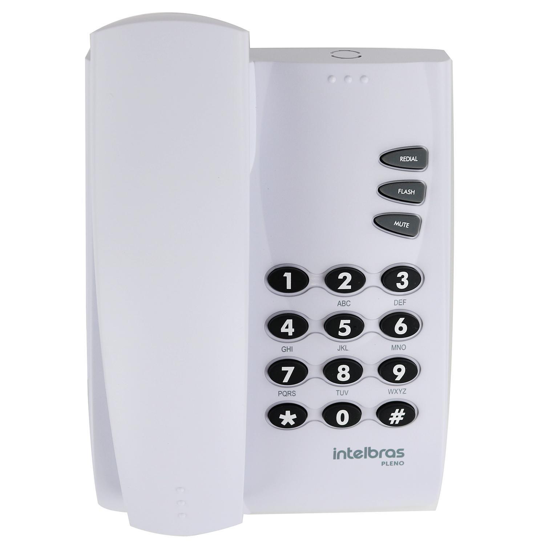 Telefone de Mesa com Fio Cinza Artico Pleno Intelbras