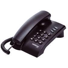 Telefone de Mesa com Fio Preto Pleno Intelbras