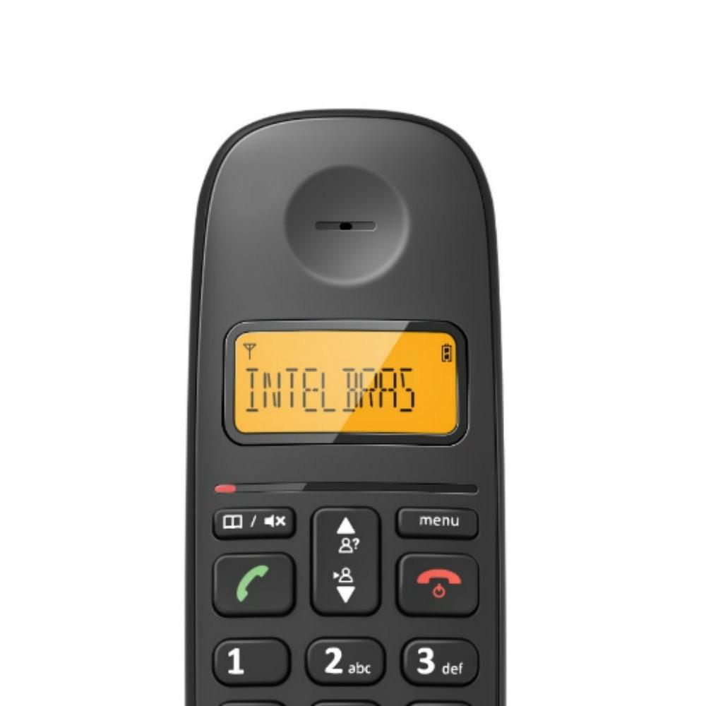 Telefone Digital Sem Fio Preto TS2510 Intelbras