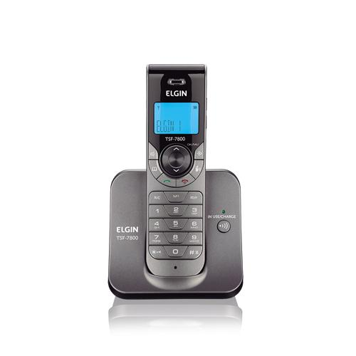 Telefone sem Fio com Identificador de Chamada Grafite Elgin TSF 7800 ID