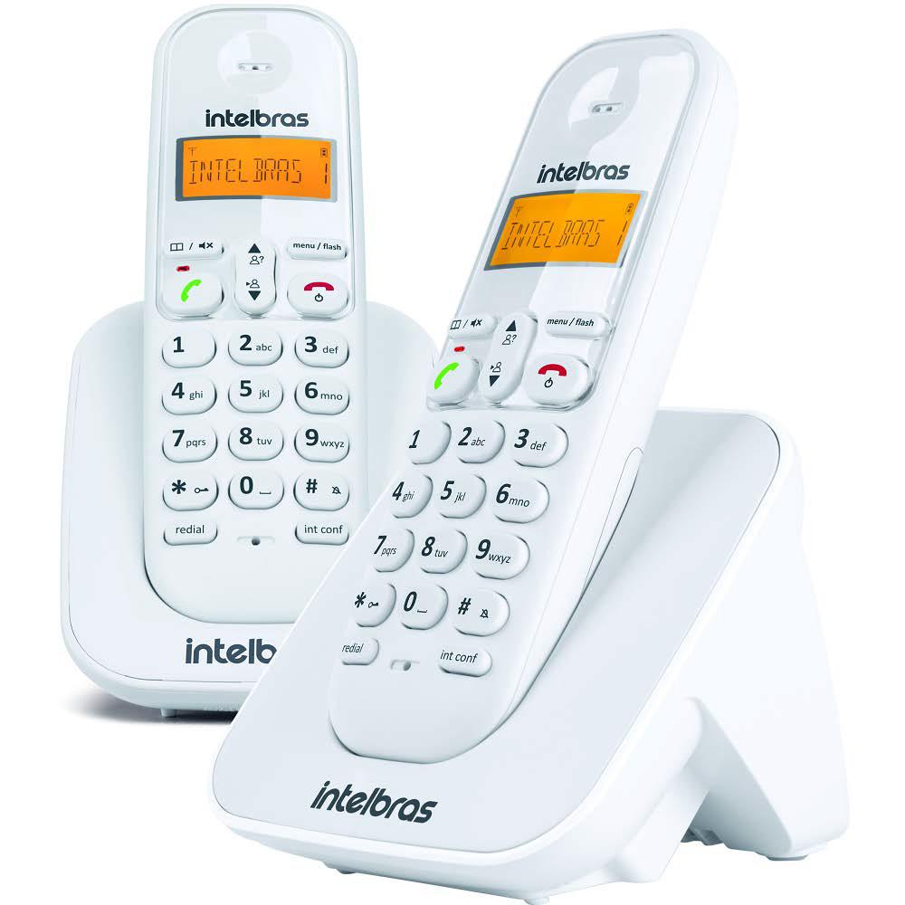 Telefone Sem Fio Intelbras + 1 Ramal TS 3112 branco