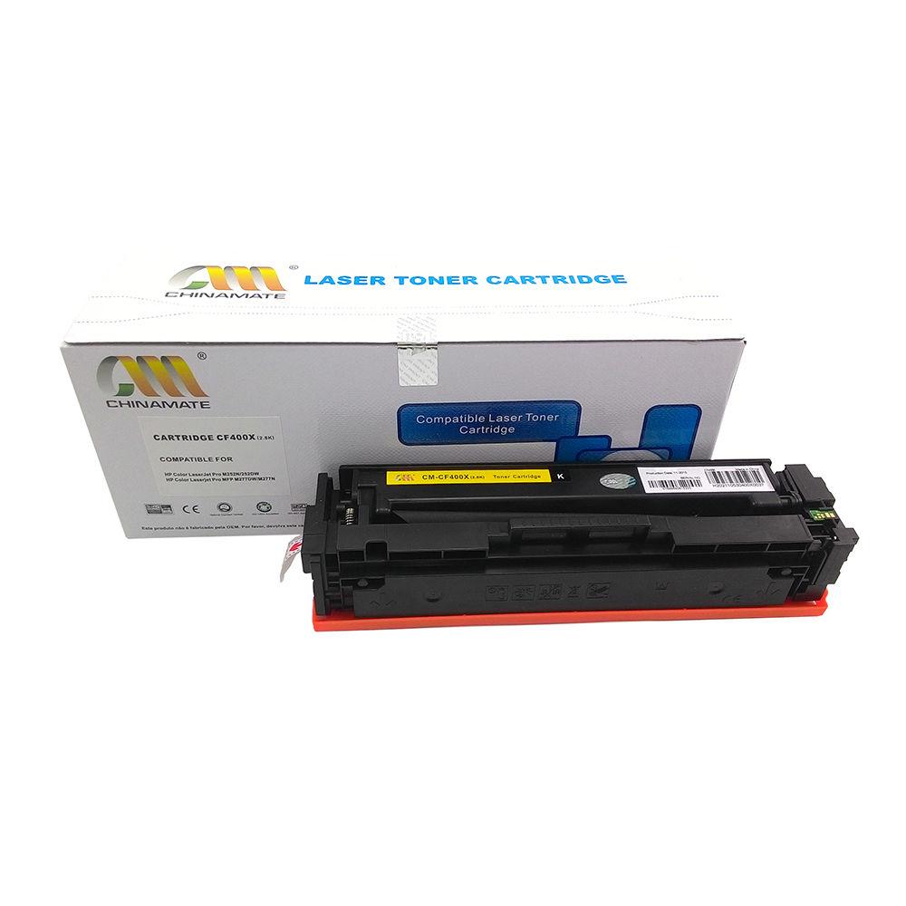 Toner CF400X Preto Chinamate 2.8k Compatível com M252dw M277dw