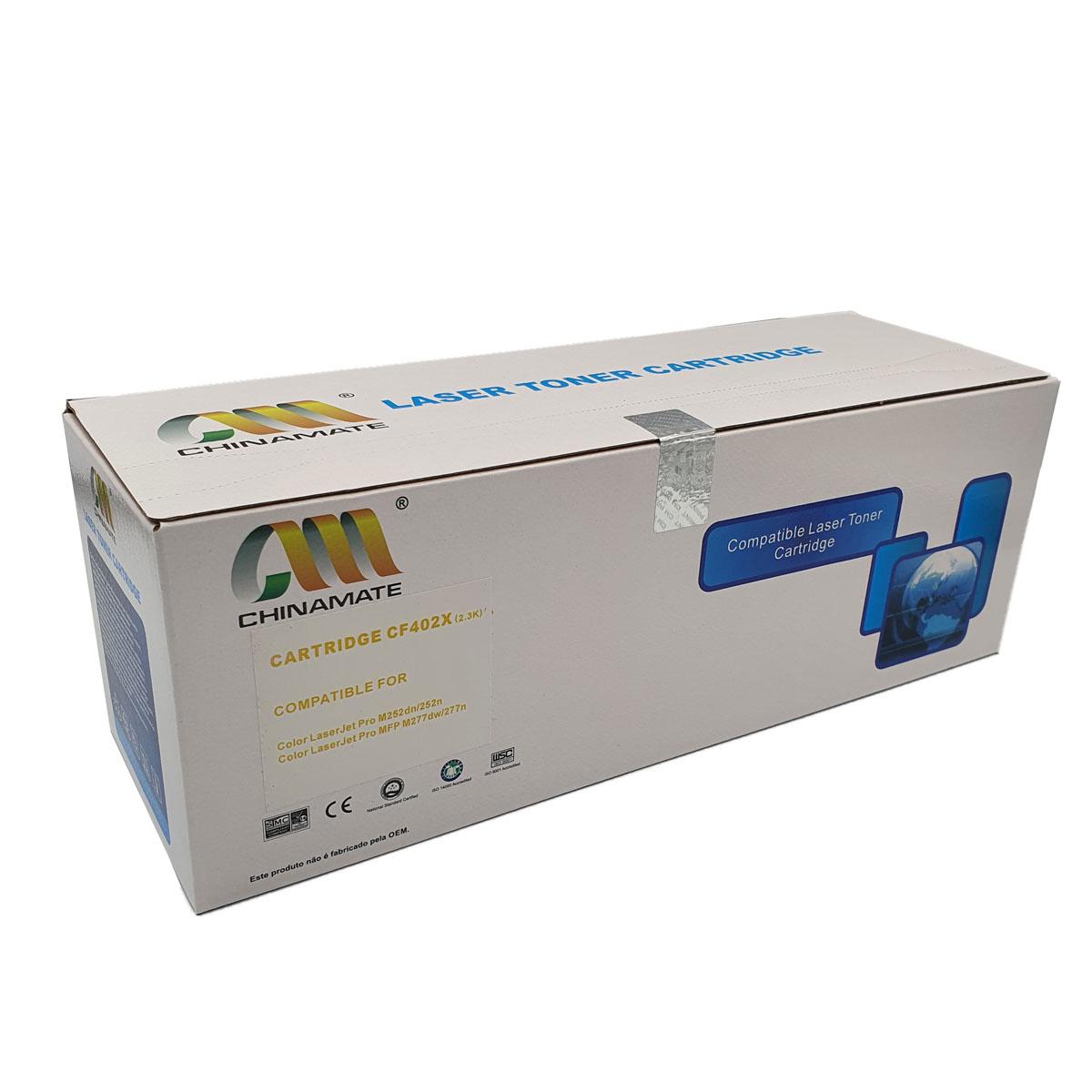 Toner CF402X Amarelo Chinamate 2.3k Compatível com M252DW M277DW da HP