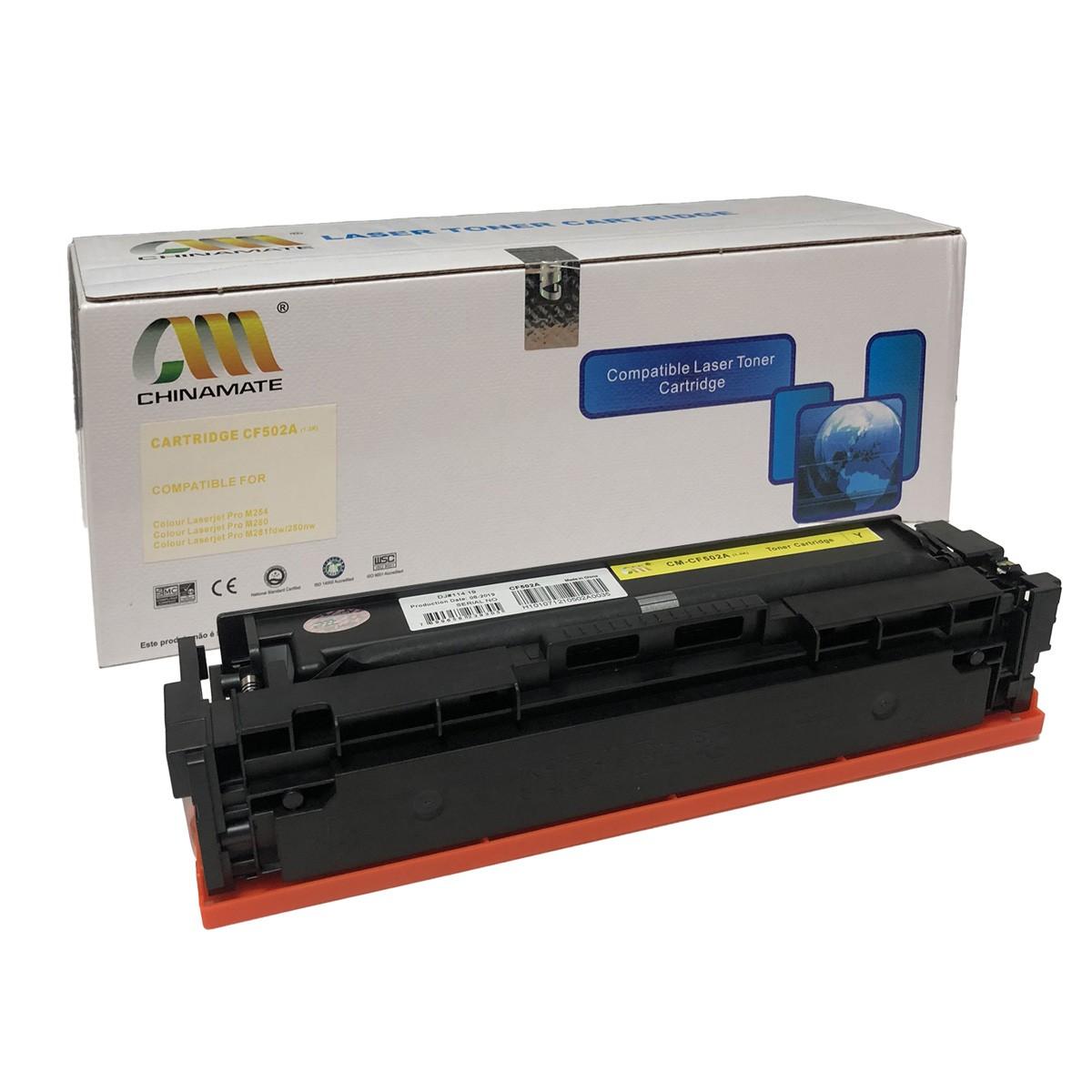 Toner CF502A Amarelo Chinamate Compatível com M284FDW M254DW da HP