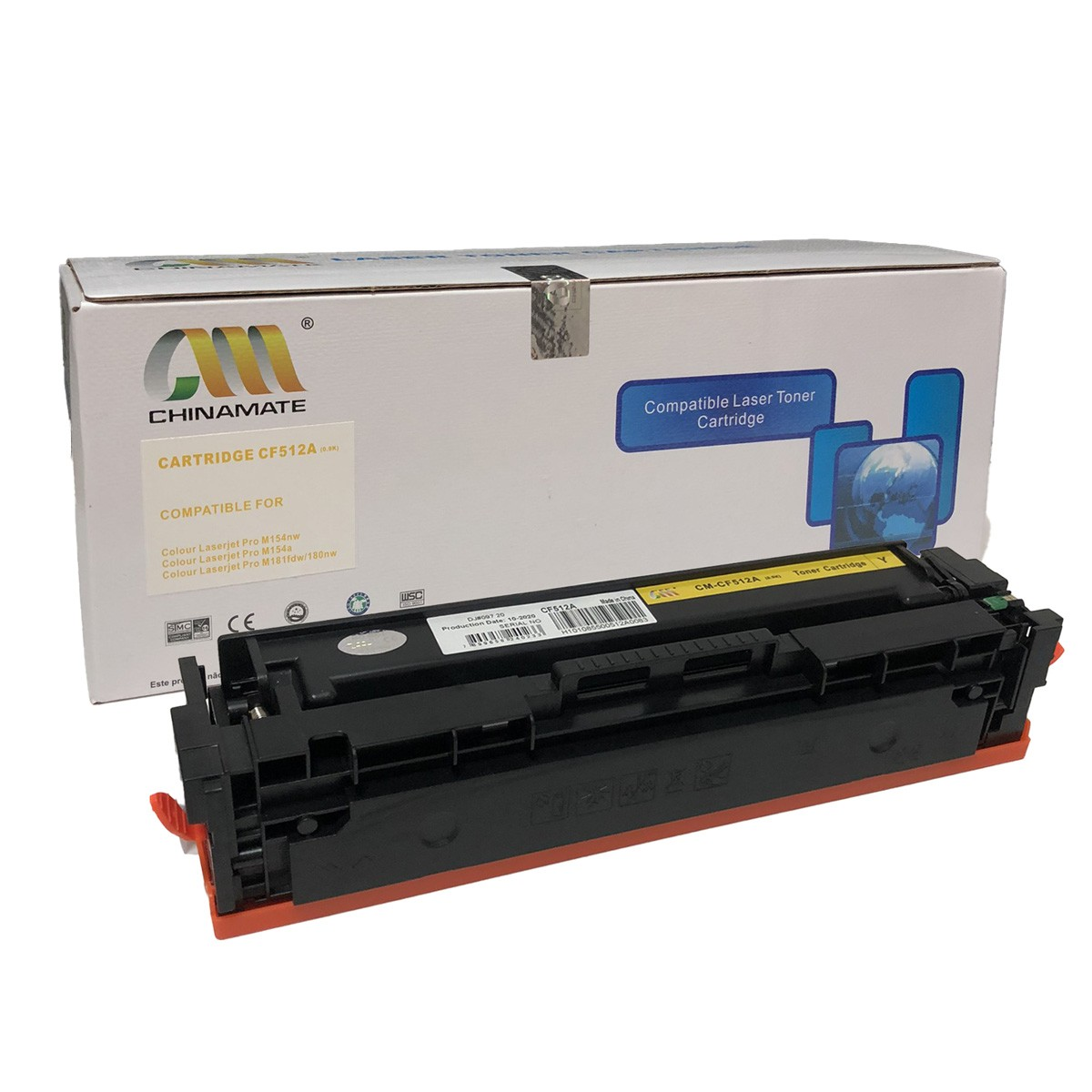 Toner Chinamate CF512A Amarelo Compatível com M154 M180 M181 da HP
