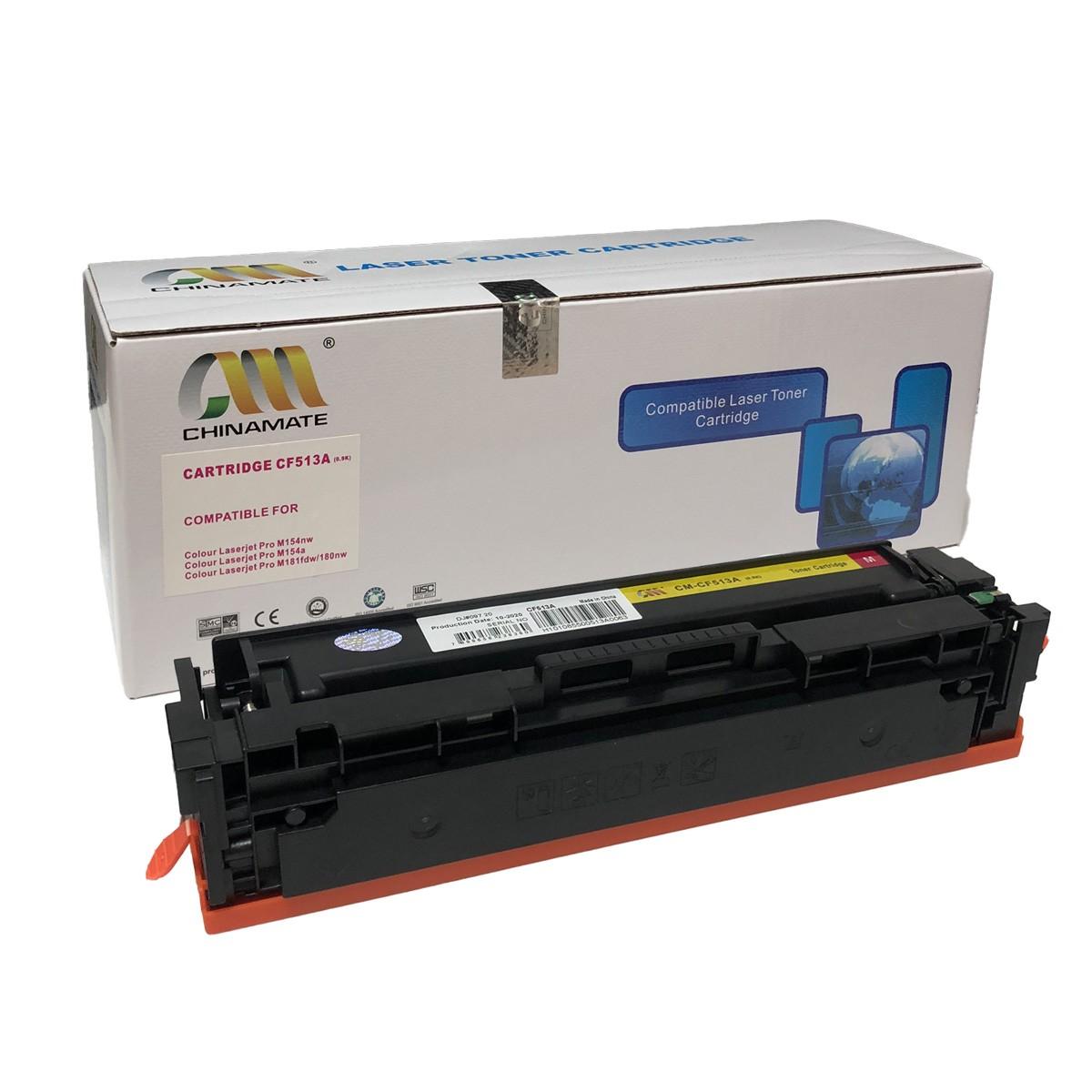 Toner Chinamate CF513A Magenta Compatível com M154 M180 M181 da HP