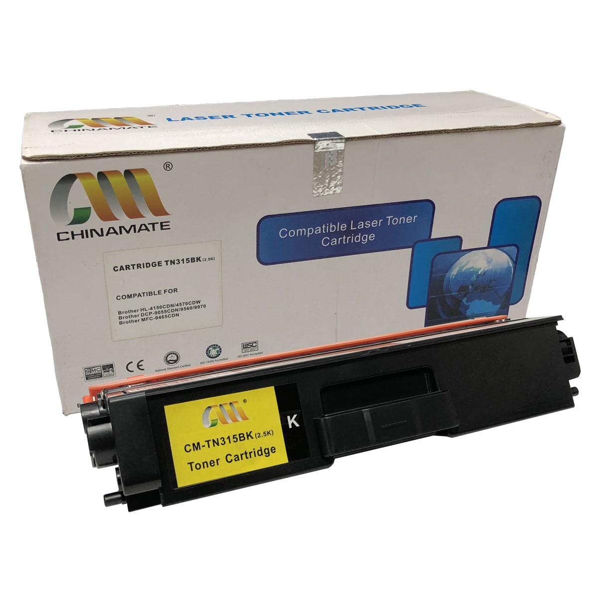 Toner Chinamate TN315BK Compatível com HL4140CN HL4570CDW da Brother