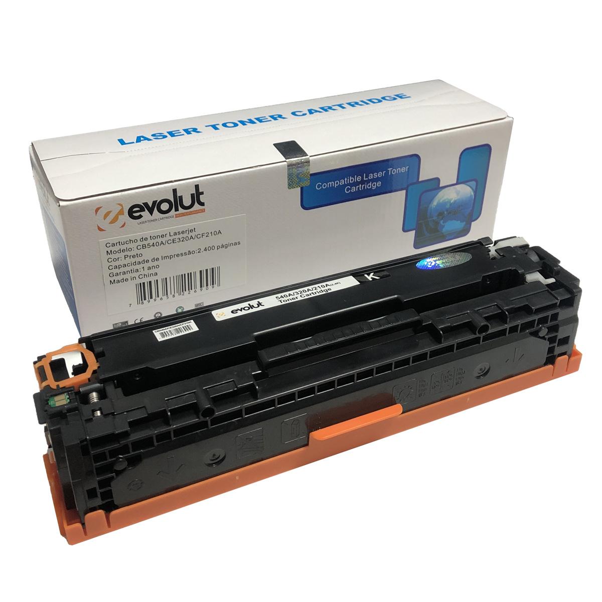 Toner CB540A CE320A CF210A Evolut Compatível com CP1215 CM1415 M251 da HP