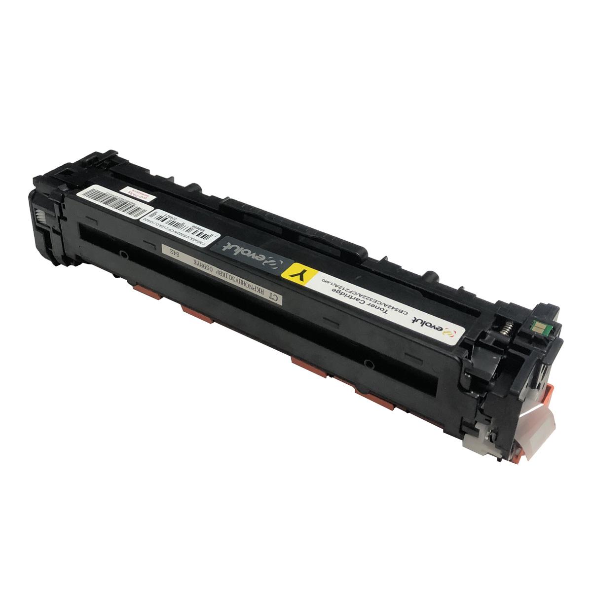 Toner CB542A CE322A CF212A Amarelo Evolut Compatível com CB541A CP1510 da HP