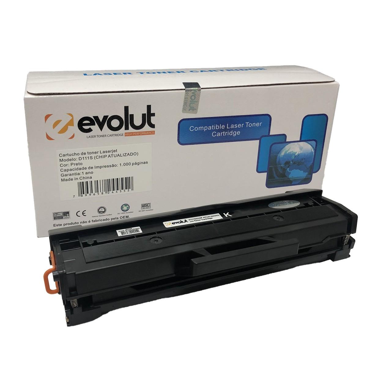 Toner Evolut D111S Compatível com M2020 M2070 da Samsung