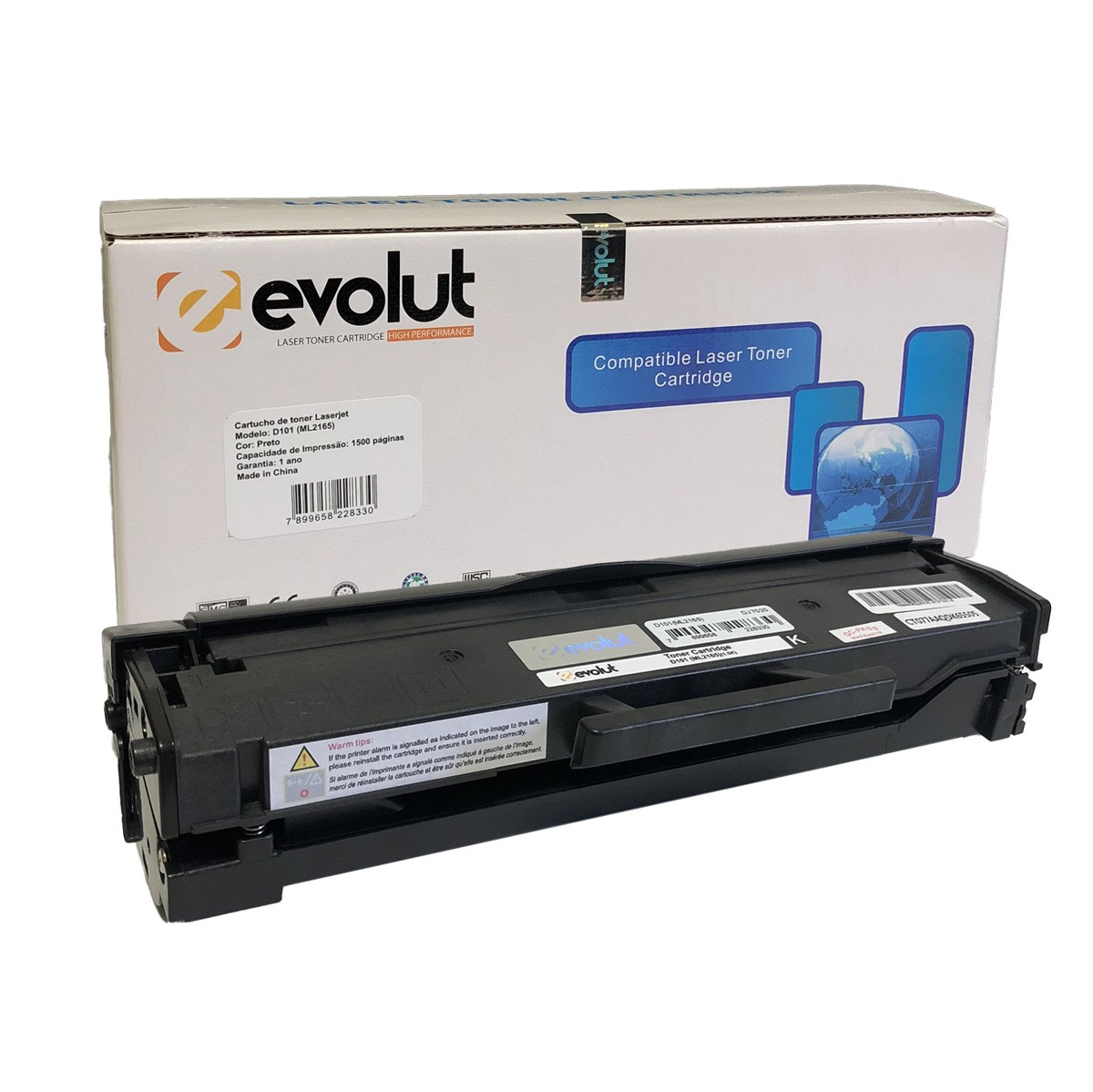 Toner Evolut MLTD101S D101 Compatível com ML-2161 ML-2165 SCX-3400 da Samsung