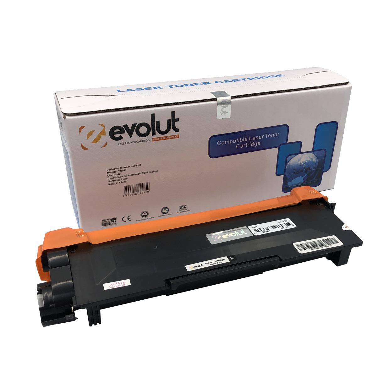 Toner TN660 Evolut Compatível com L2320 2360 L2700 L2740 da Brother