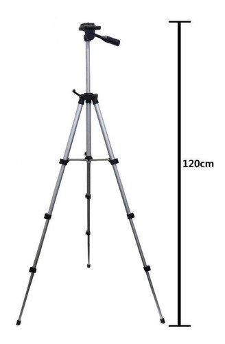 Tripé Ajustável com Suporte para Câmera Smartphone 120cm SPO-8193 Inova