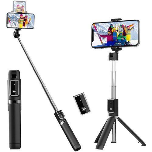 Tripé Bastão Selfie Wireless Sem Fio Com Controle Bluetooth P40