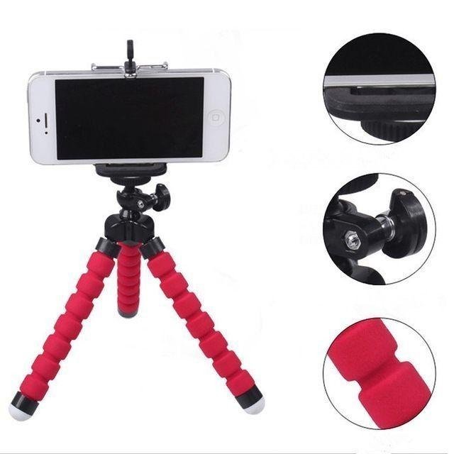 Tripé de Esponja Flexível para Câmeras e Celulares Inova