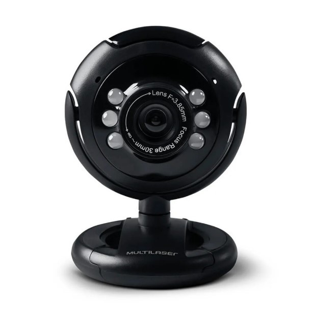 Webcam 16Mp USB com Microfone e LED WC045 Multilaser