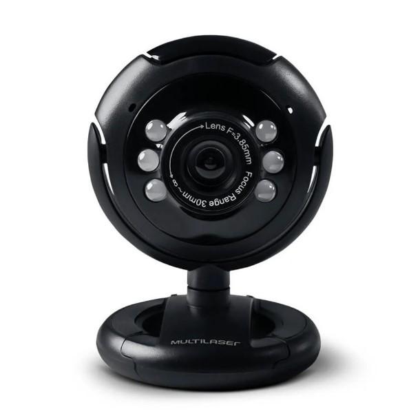 eanxWebcam 16Mp USB com Microfone e LED WC045 Multilaser
