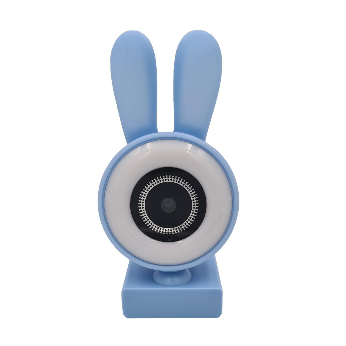 Webcam com Microfone Orelinhas LED 480p 720p 1080p Lilás CA-13065