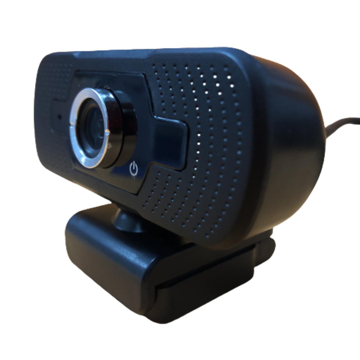 Webcam HD 1080p com microfone para videoconferência Preta FullHD