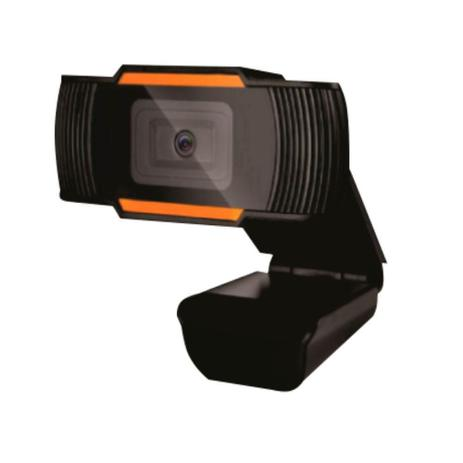 Webcam HD 720p com microfone para videoconferencia