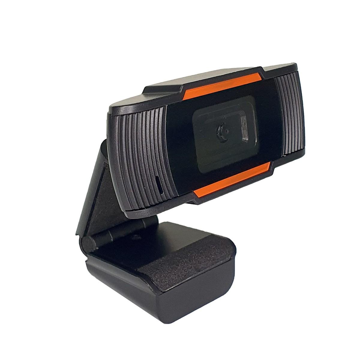 Webcam HD 720p microfone USB para PC videoaula live
