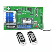 Central Portão Ac4 Fit Pa Encoder Acton 2 Controles Cromados