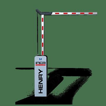 Cancela Controle Acesso Inca Alto Fluxo Braço Articulado 3 m
