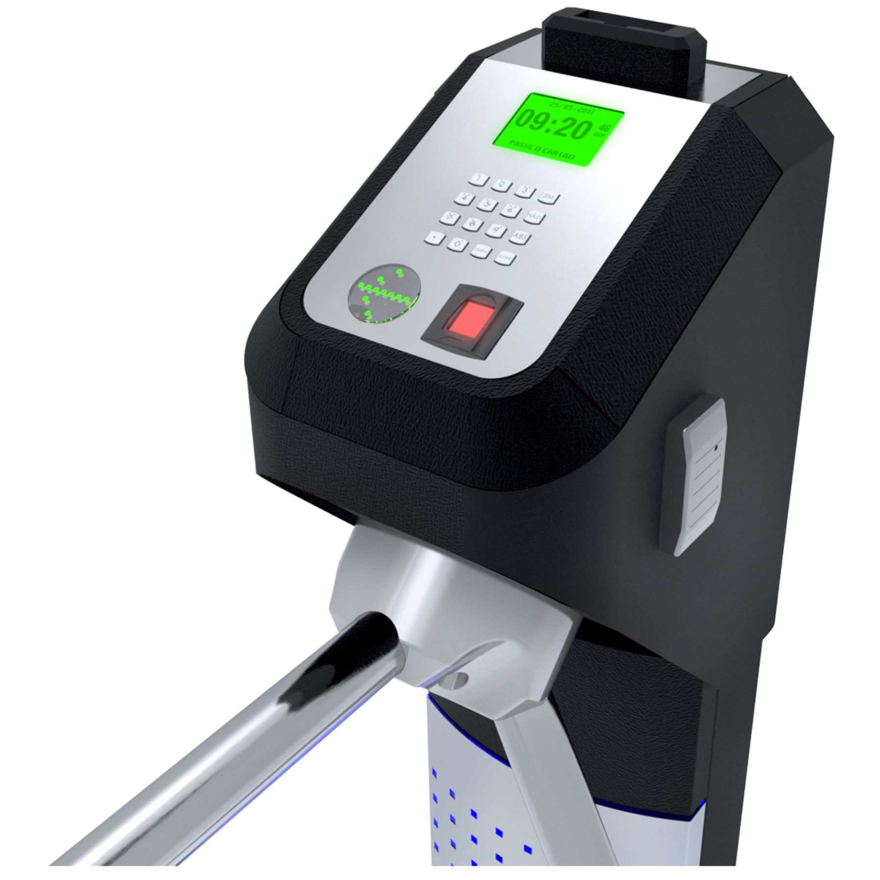 Catraca Lumen Adv Biometria e Proximidade c/ Cofre Embutido