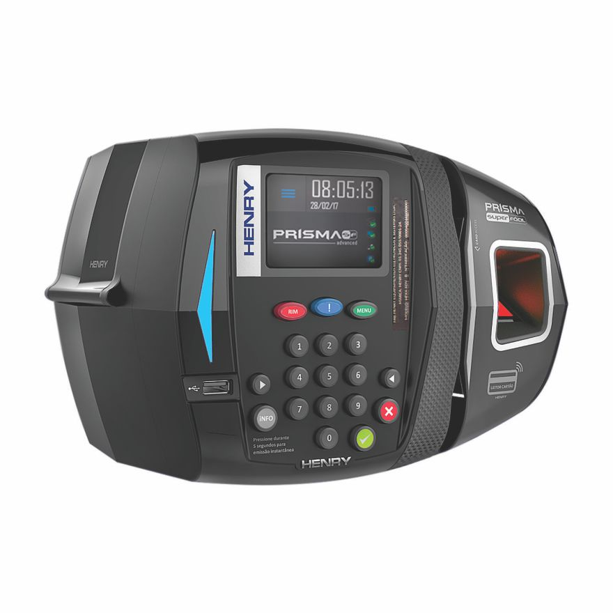 Combo Relógio de Ponto Prisma Bio/Prox + Instalação + Manutenção + Software