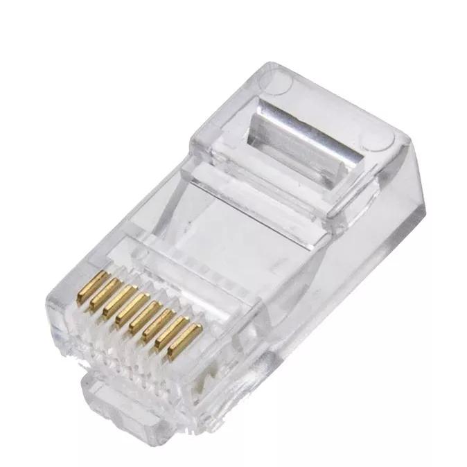 Kit 300 Conectores Plug Rj45 8x8 Cat5e Profissional Marca 5+