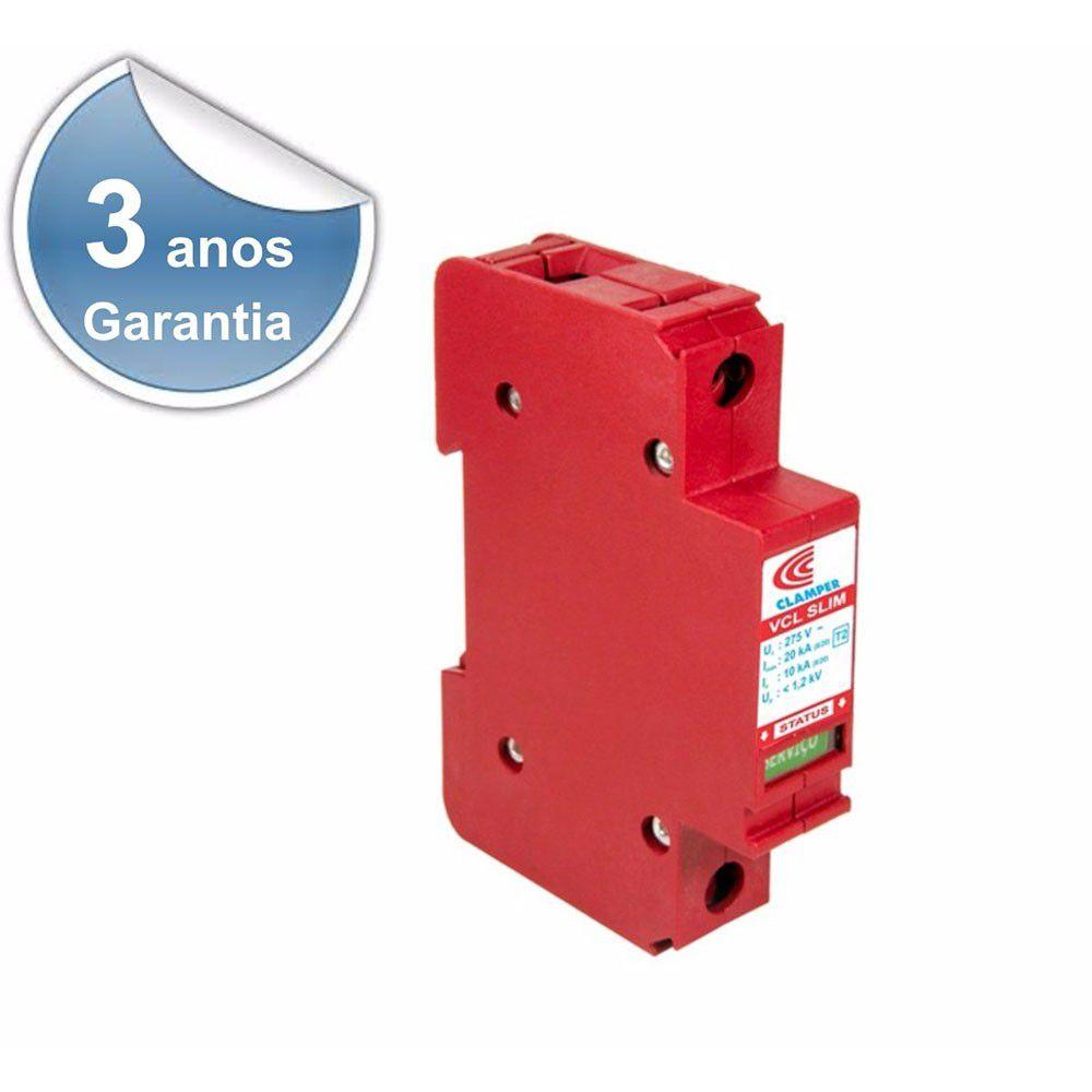 Protetor Surtos Raios Dps Vcl Slim 275v 20ka - 4954 Clamper