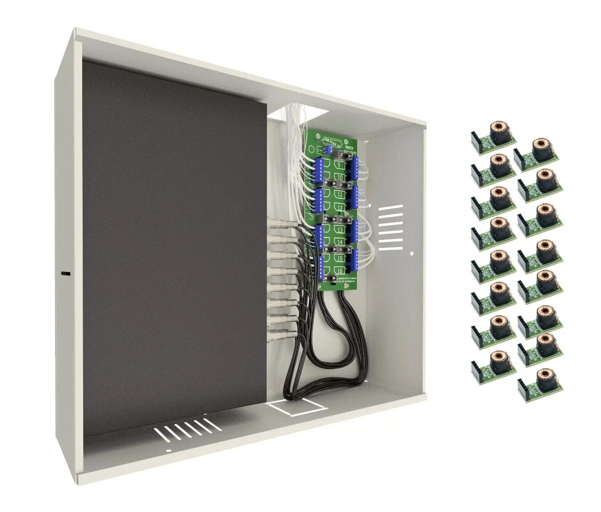 Rack 16ch Organizador Mini Orion Hd3000 Onix + 16 Balun Rack