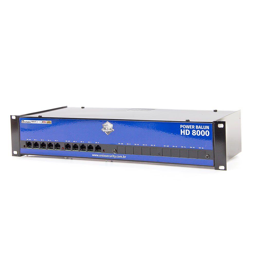 Rack Power Balun 8 Canais Pvt Completo Hd 8000 Onix