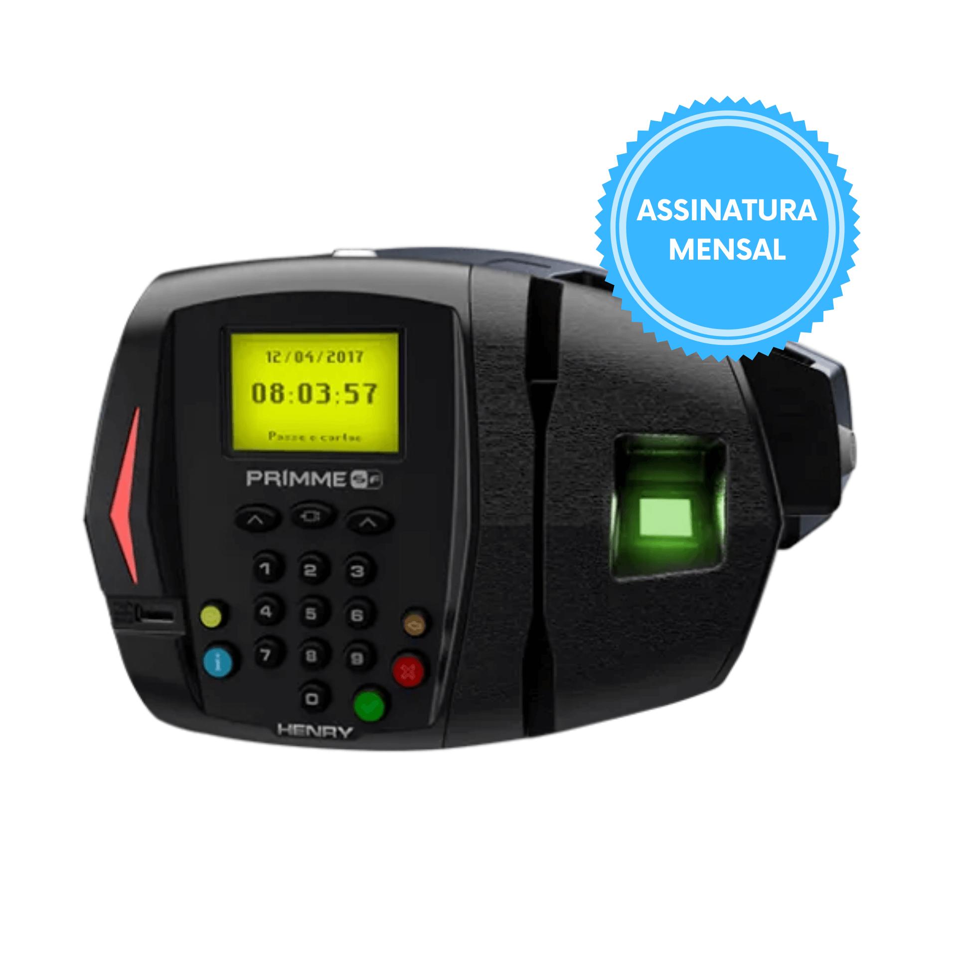 Relógio de Ponto 373 Primme Biométrico e Código de Barras