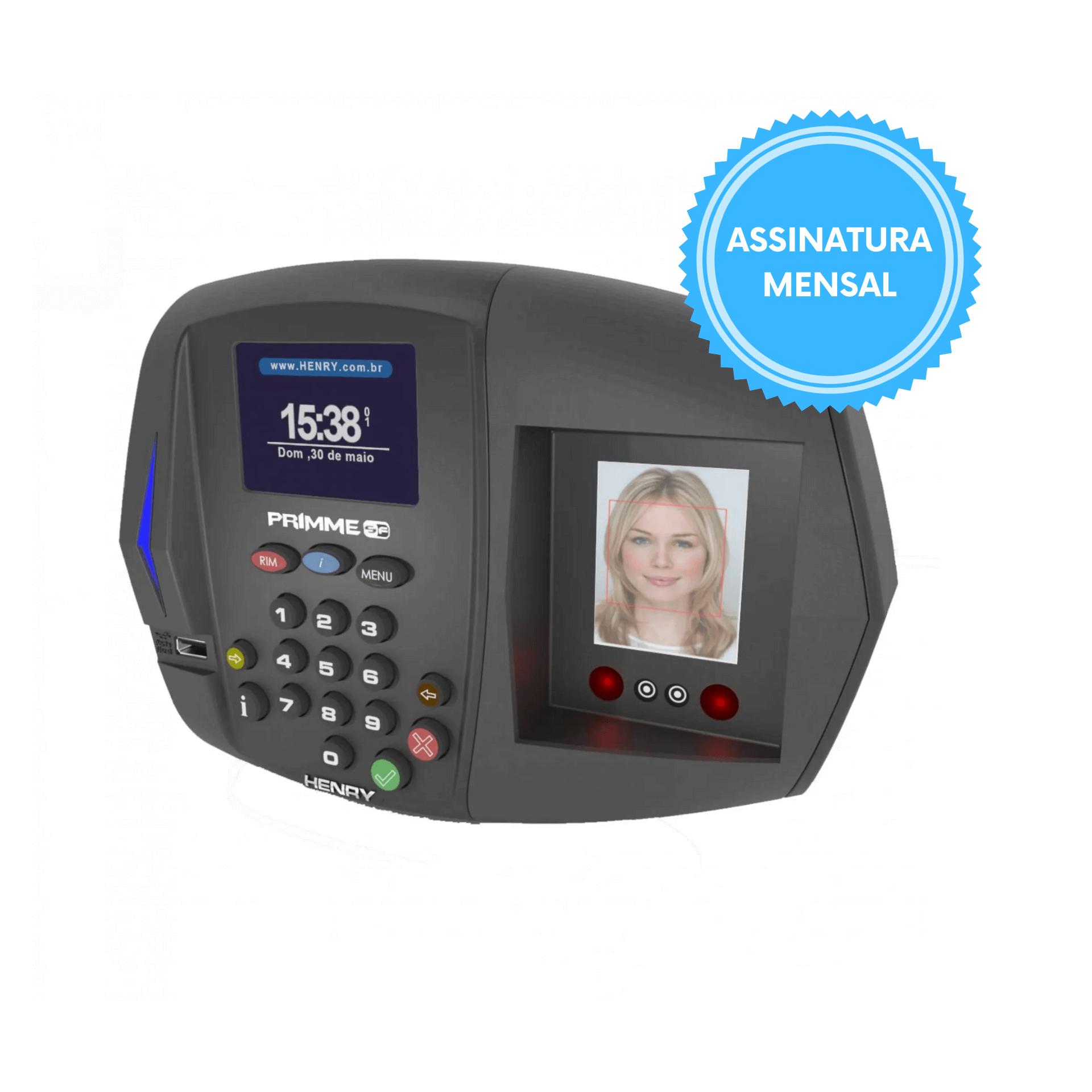 Relógio de Ponto Primme SF com Biometria Facial Portaria 373