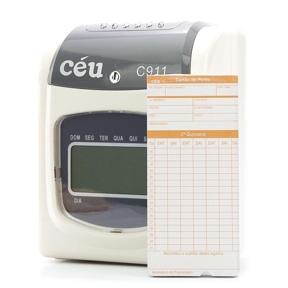 Relógio de Ponto Manual Mecânico Cartográfico C911 Port. 373