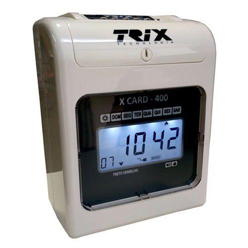 Relógio De Ponto Cartográfico Trix X-card 400 Com Bateria