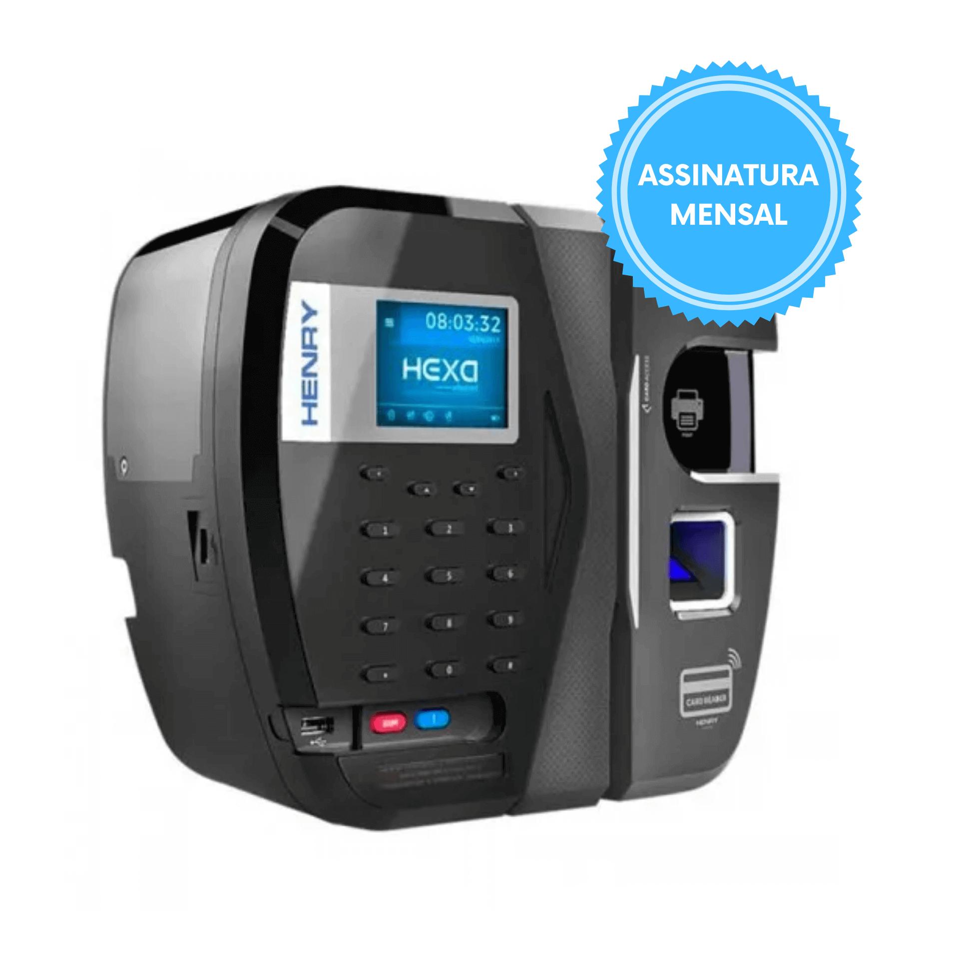 Relógio de Ponto REP Hexa Adv Biométrico e Código de Barras