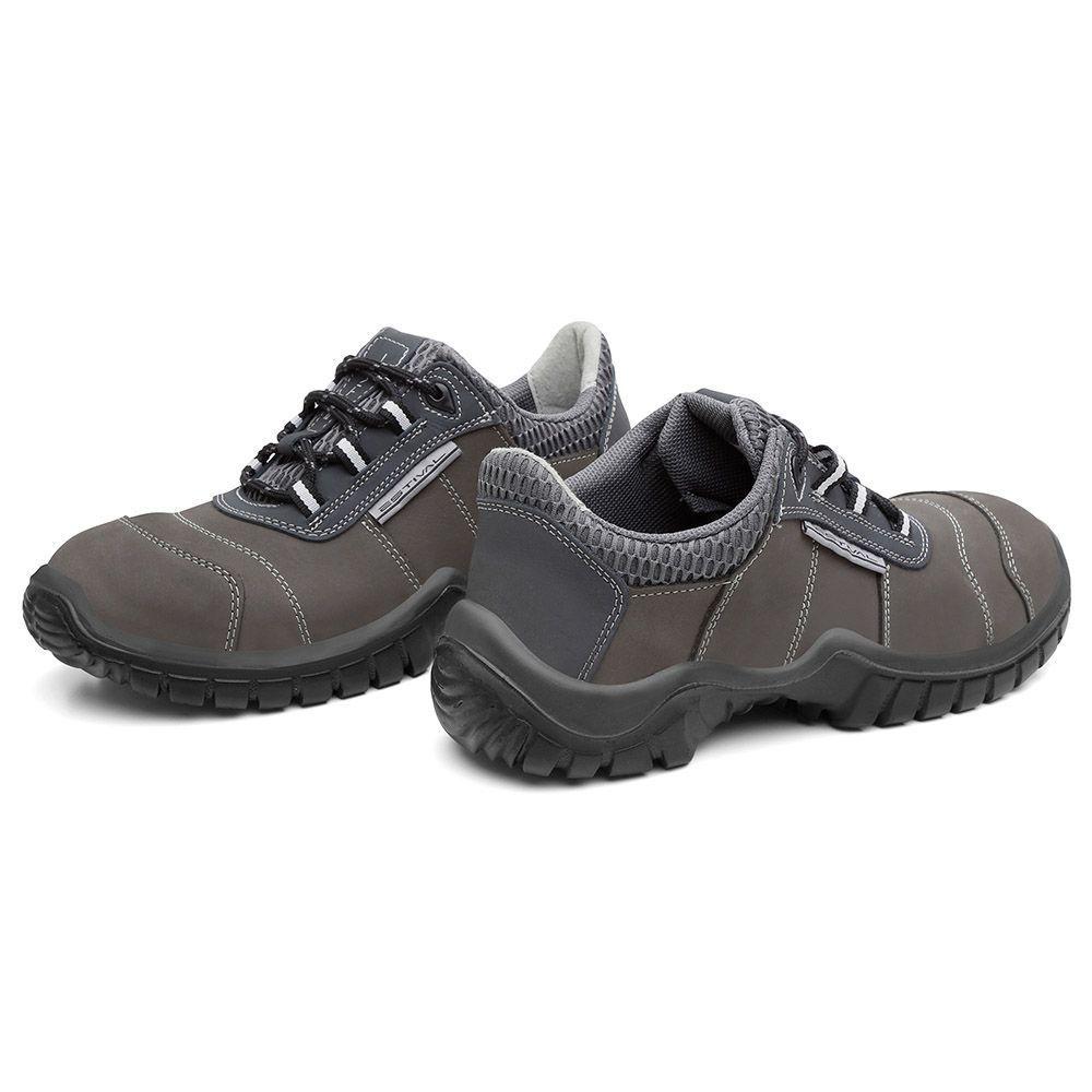 Sapato de Segurança Estival em Couro Grafite Azul EN10041S1 CA 28.147