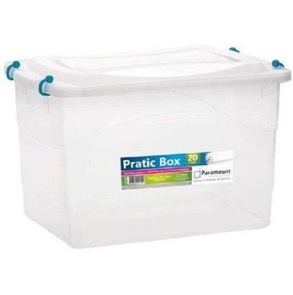 Caixa Plástica Organizadora Multiuso Pratic Box 20l 41x29x25