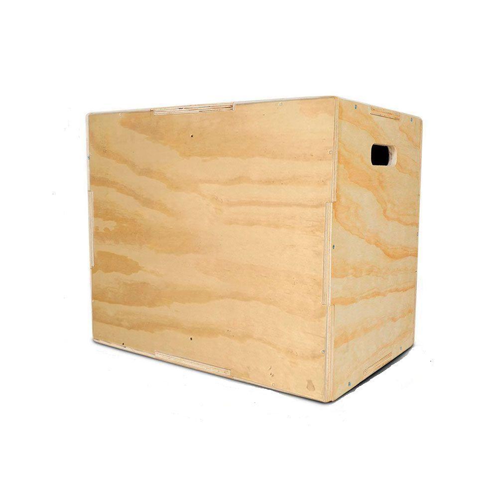 Caixote De Crossfit Para Salto Madeira 3 Em 1 Jump Box Media