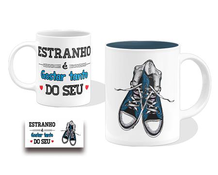 Caneca Porcelana Personalizada Estranho é Gostar Tanto...