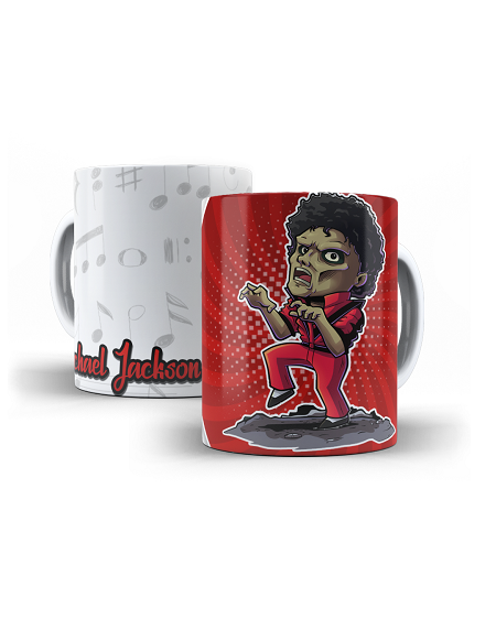 Caneca Porcelana Personalizada Michael Jackson- 325ml