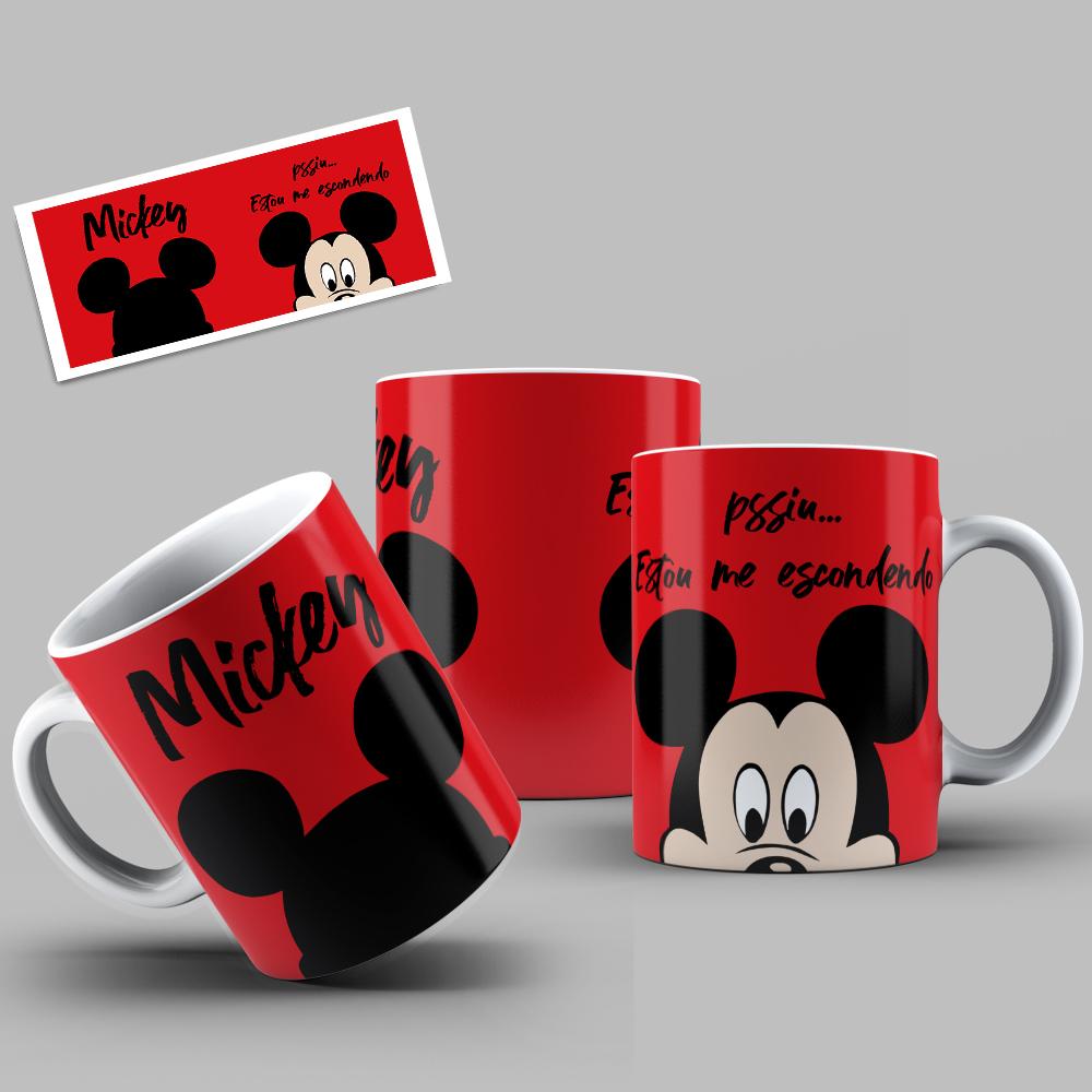 Caneca Porcelana Personalizada Mickey