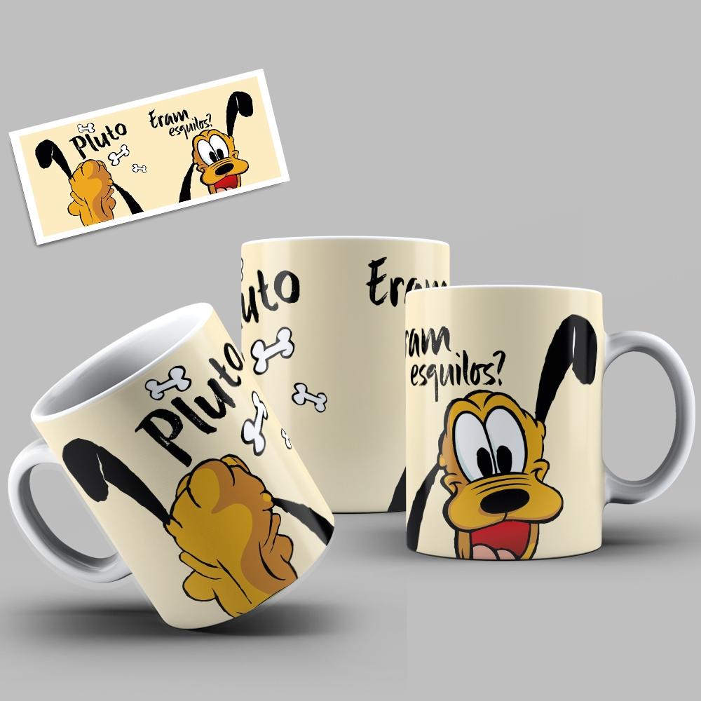 Caneca Porcelana Personalizada Pluto