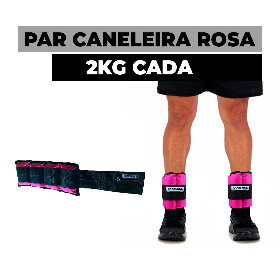 Caneleira / Tornozeleira 2 Kg Rosa