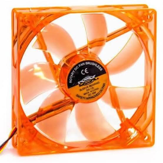 Cooler Fan 120mm LED Laranja