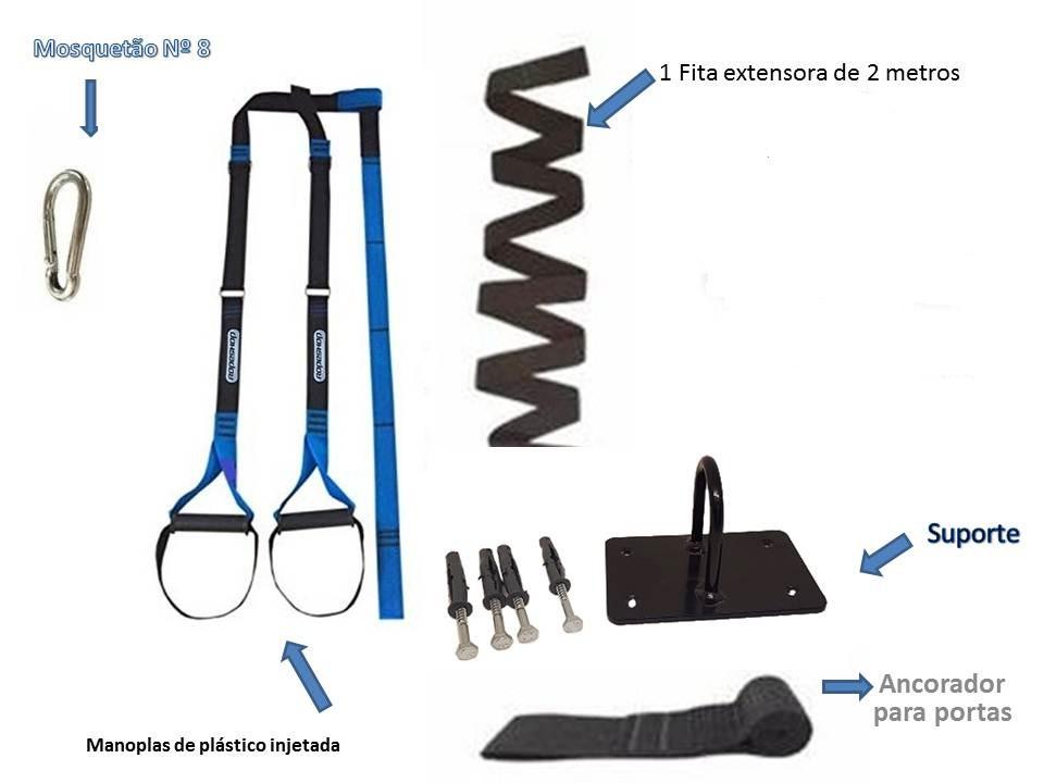 Fita Treinamento Suspensão tipo TRX Completo + Suporte